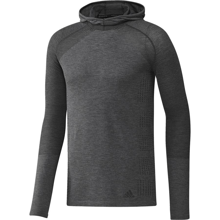 Adidas Primeknit Long-Sleeve Hooded T-Shirt - Mens