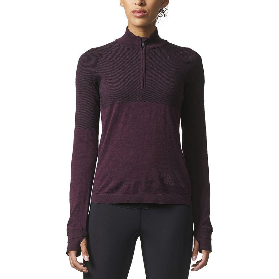 Adidas - Climaheat Primeknit 1/2-Zip Shirt - Long-Sleeve - Women's