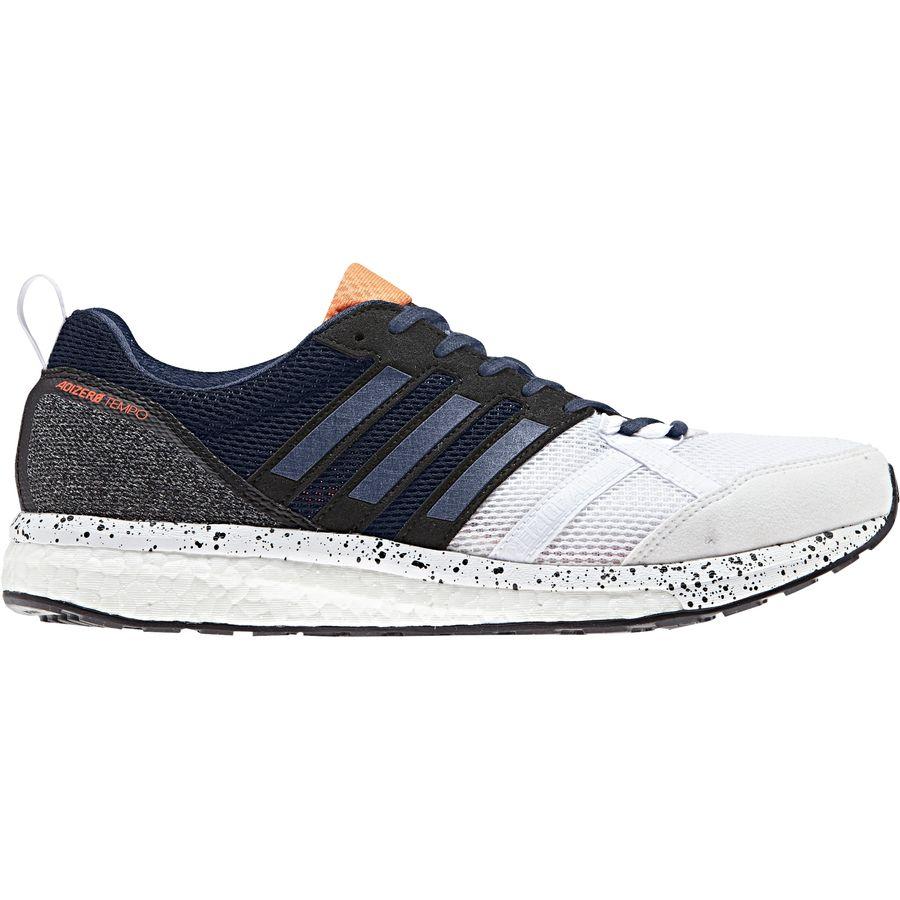 Adidas  Adizero Tempo 9 Running Shoe  Mens  Footwear White Noble Indigo