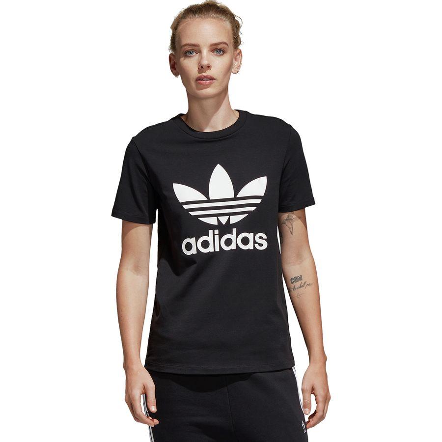 Adidas - Trefoil T-Shirt - Women s - Black White 97521646ed