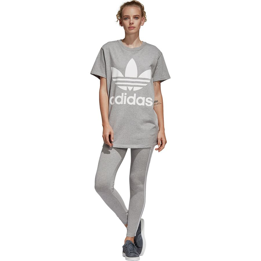 Adidas - 3 Stripes Tight - Women s - Medium Grey Heather 18b3fe76eb8f