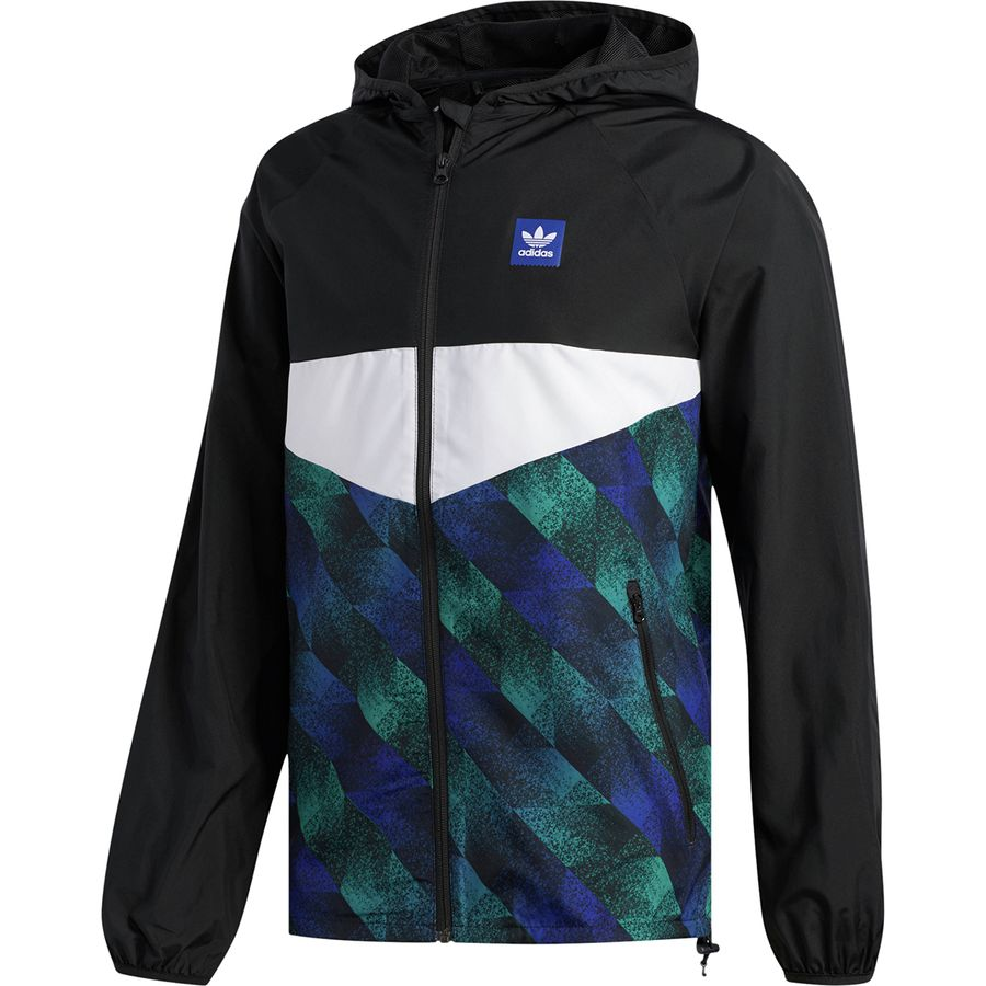 5aad090cfe27 Adidas - Towning Jacket - Men s - Black White Active Blue Active Green