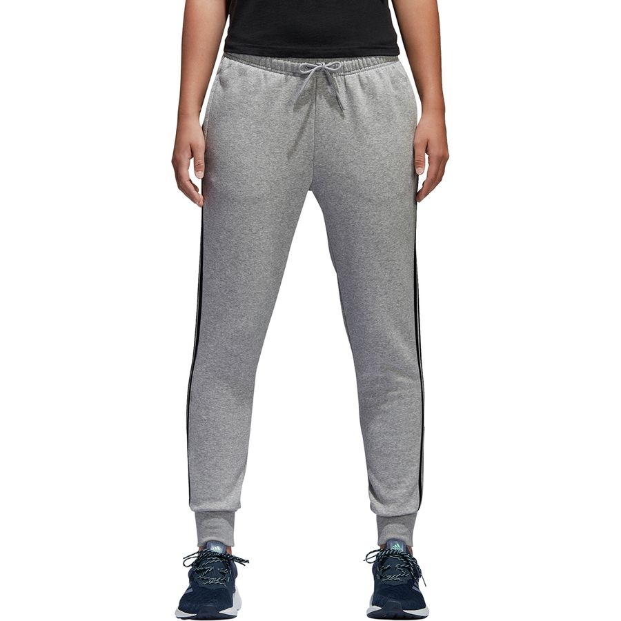 cdb43e78becf Adidas - Essentials Cotton Fleece 3s Jogger - Women s - Mmedium Grey  Heather Black