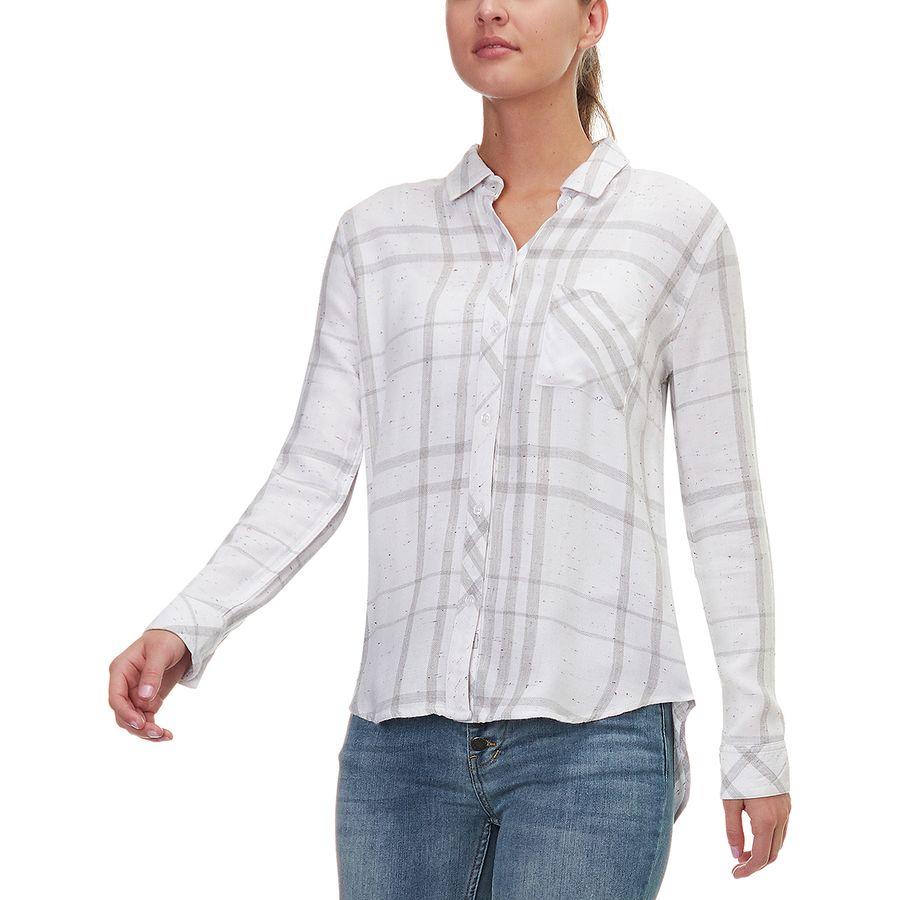 Rails Hunter White/Charcoal/Funfetti Long-Sleeve Button Up - Womens