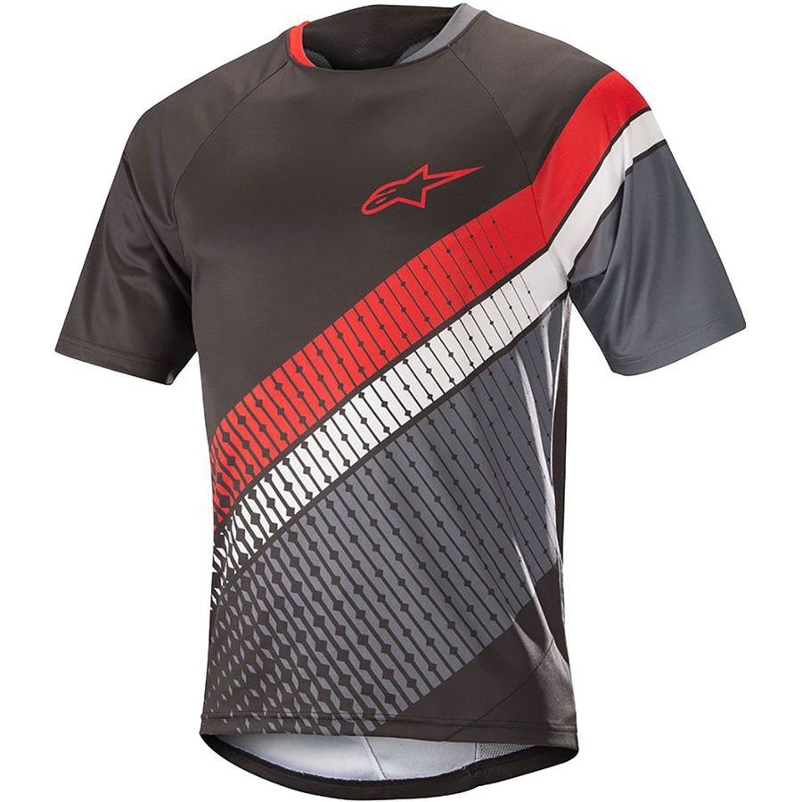 Alpinestars - Predator Short-Sleeve Mountain Bike Jersey - Men s - Black  Steel Gray Red 1b314160e