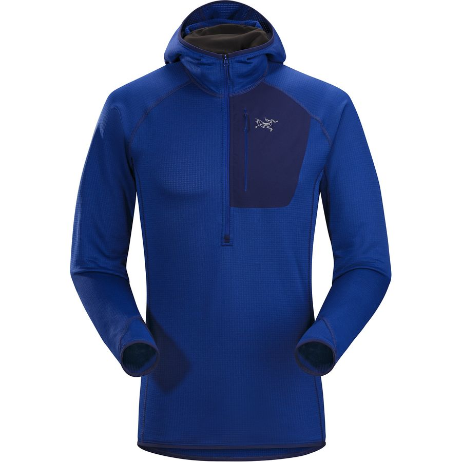 Arc'teryx - Konseal Hooded Fleece Pullover - 1/2-Zip - Men's - Corvo Blue