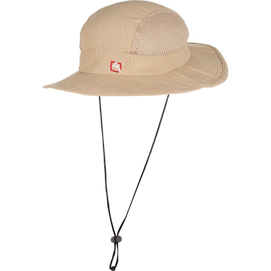Avalanche - EMB Drawstring Mesh Boonie Hat - Khaki 7bd2e16a098