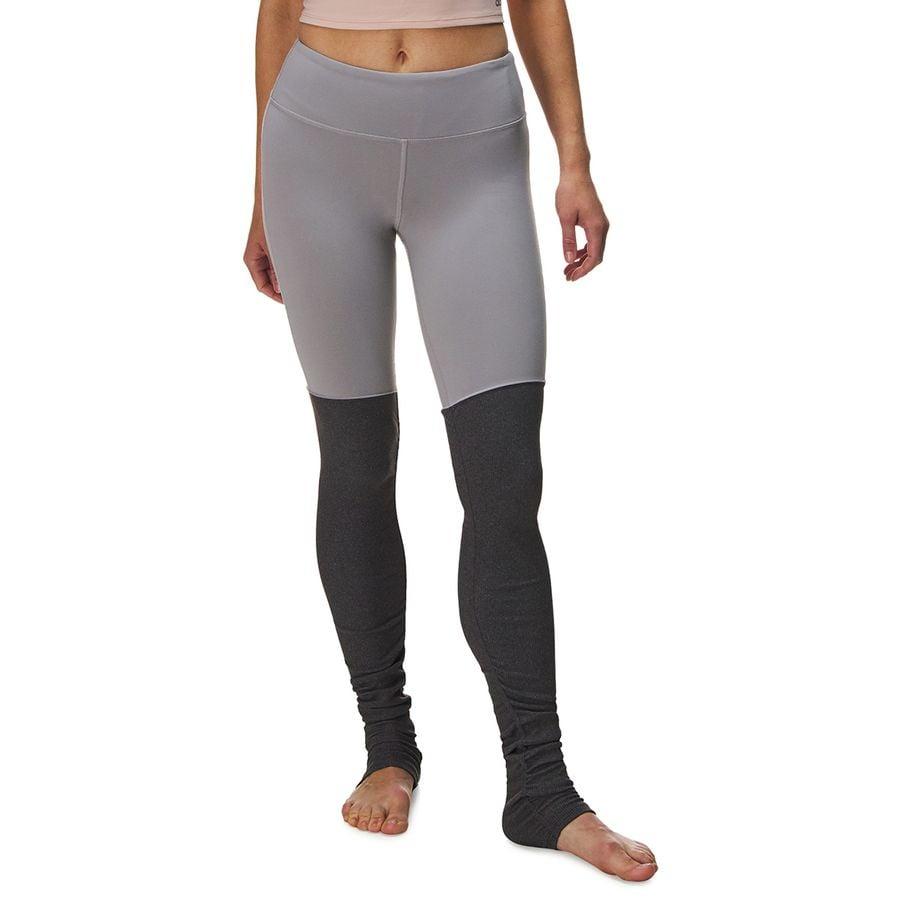 85a42b83dee002 Alo Yoga - Goddess Ribbed Legging - Women's - Alloy/Stormy Heather