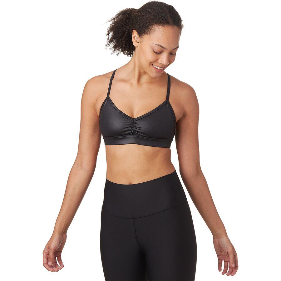 5e9bc0a2f310c Alo Yoga - Sunny Strappy Bra - Women s - Black Glossy