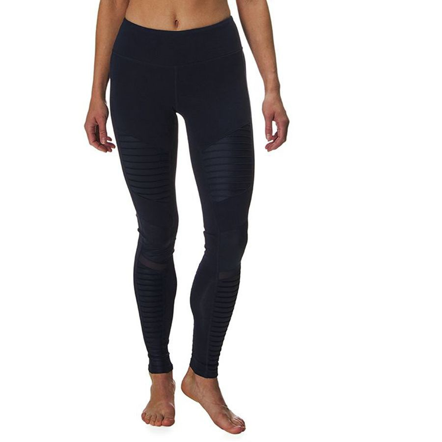 7f8eaaef4b1bb6 Alo Yoga - Moto Legging - Women's - Rich Navy/Rich Navy Glossy