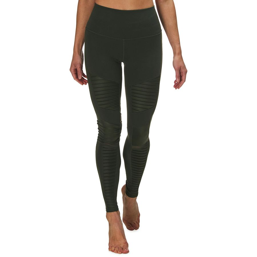 ceee6c23b5e0b Alo Yoga - High-Waist Moto Legging - Women's - Hunter/Hunter Glossy