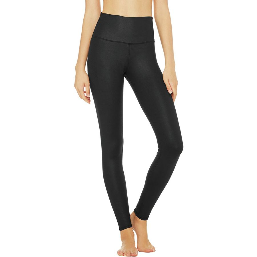 Alo Yoga High-Waist Tech Lift Airbrush Solid Legging - Womens