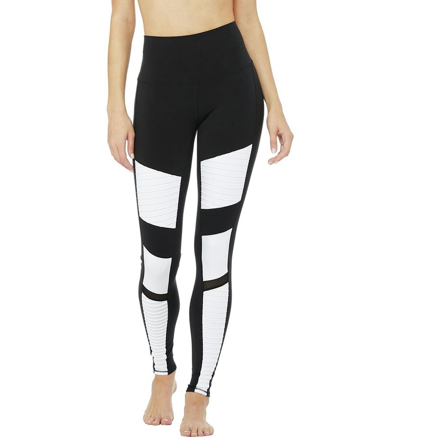 Alo Yoga High-Waist Colorblock Moto Legging - Womens
