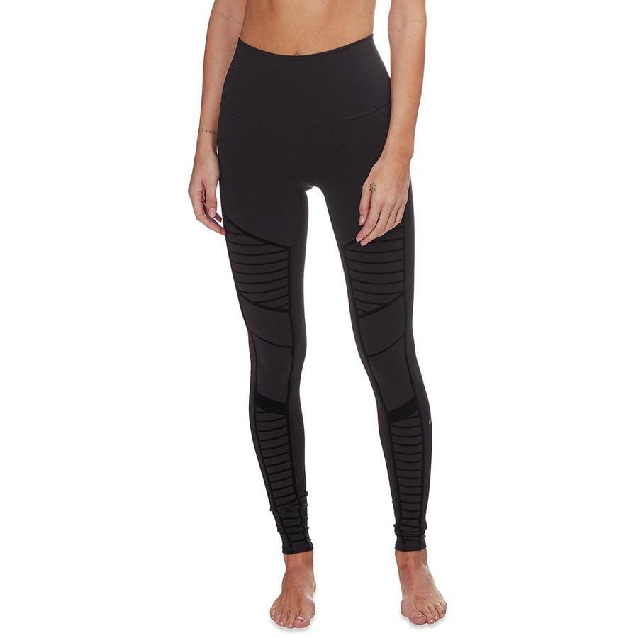 37619c7076 Alo Yoga Flocked High-Waist Moto Legging - Women's | Backcountry.com