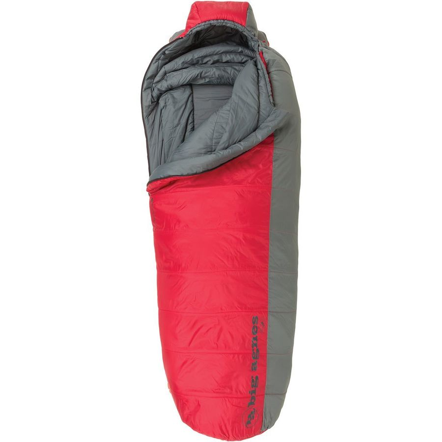 Agnes Encampment Sleeping Bag 15 Degree Synthetic Red Gray