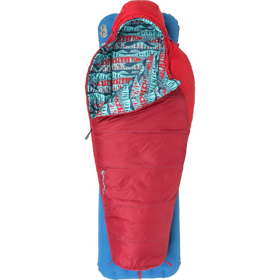 Agnes Wolverine Sleeping Bag 15 Degree Synthetic Kids Red