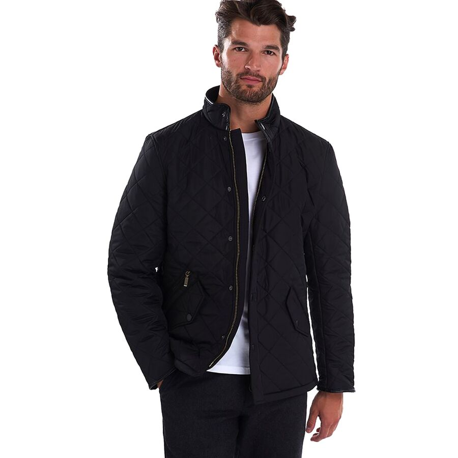quilt international mens ariel man poler quilted barbour jacket the black idle at