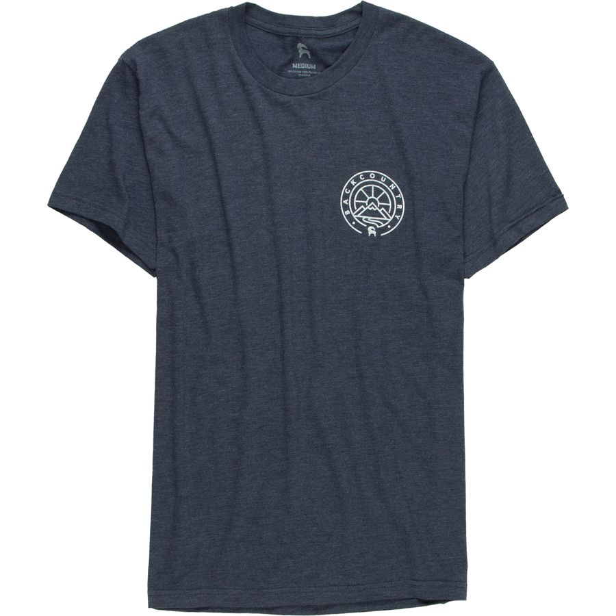 Backcountry Mountain Medallion Front and Back Graphic T-Shirt - Mens