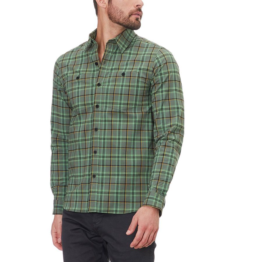 Nature And Camping Stickers: Backcountry Stretch Poplin Plaid Long-Sleeve Shirt