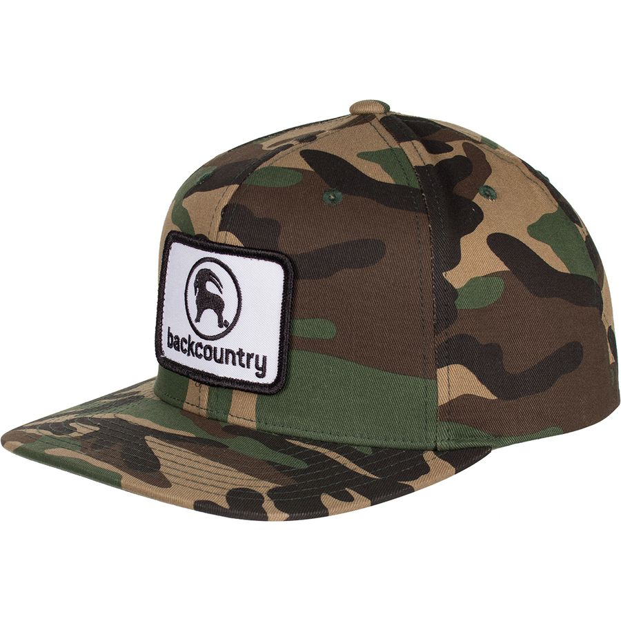 Backcountry - Flat Brim Patch Snapback Hat - Men s - Camo 91e68ba9038