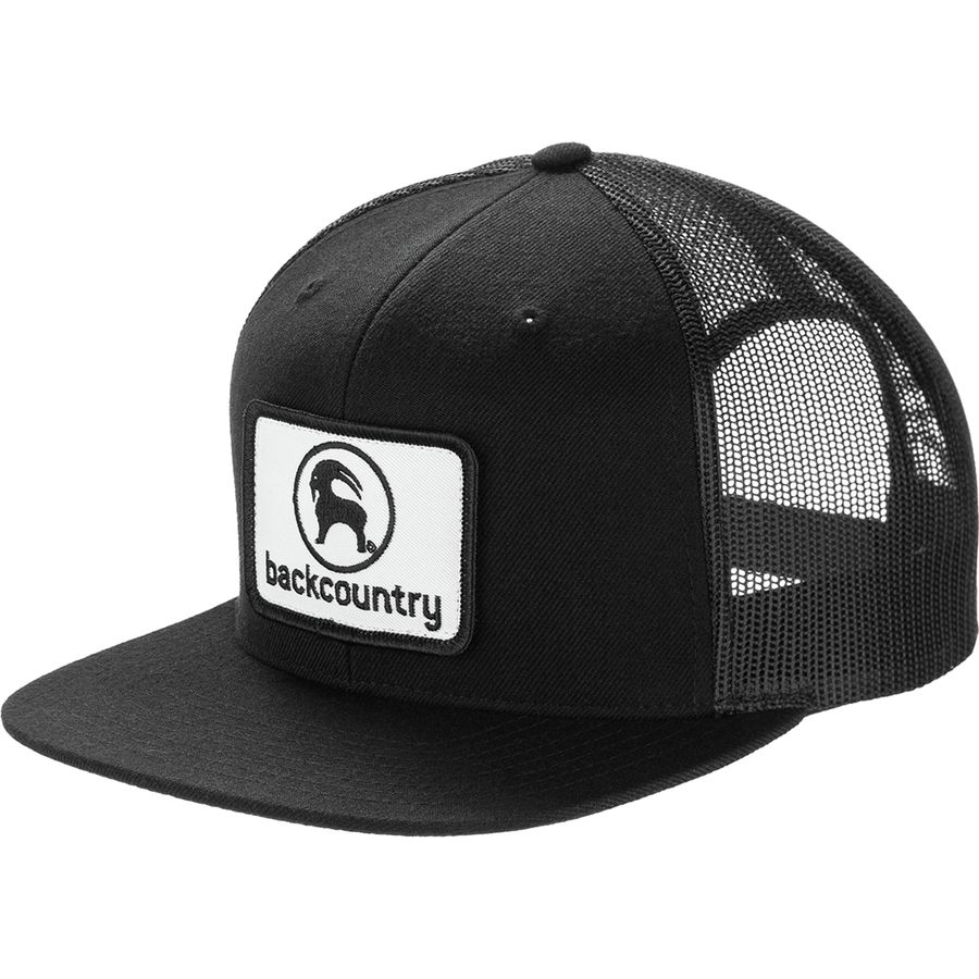 Backcountry - Flat Brim Patch Trucker Hat Black | Backcountry.com