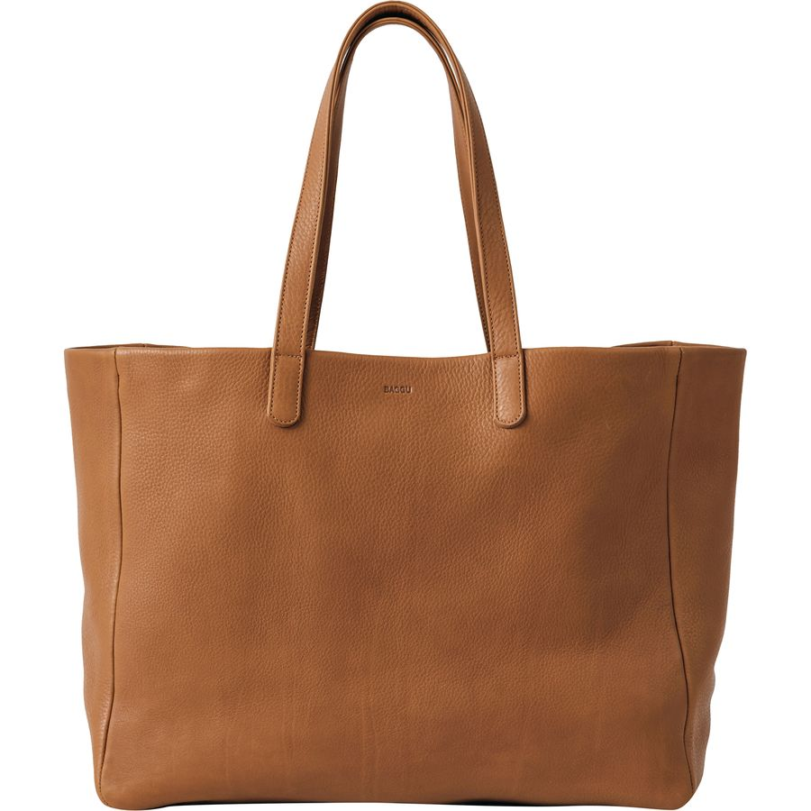 cb81ad43572c BAGGU - Oversize Leather Tote - Women s - Caramel