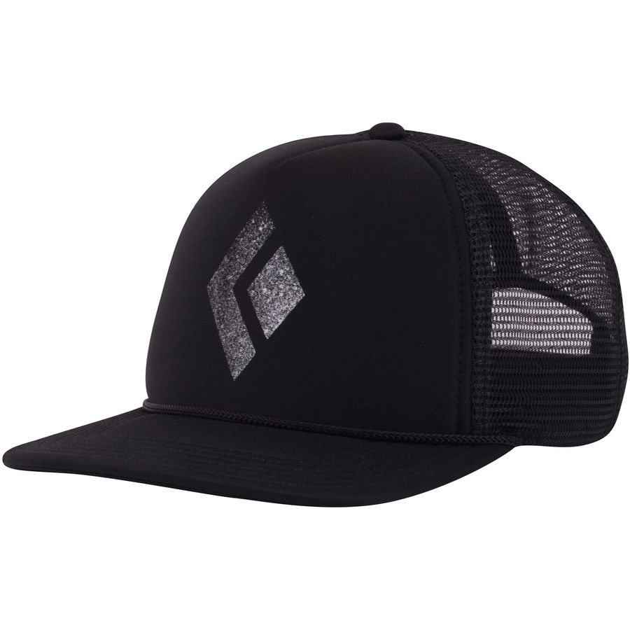 edd9920f5bdaa Black Diamond - Flat Bill Trucker Hat - Black White