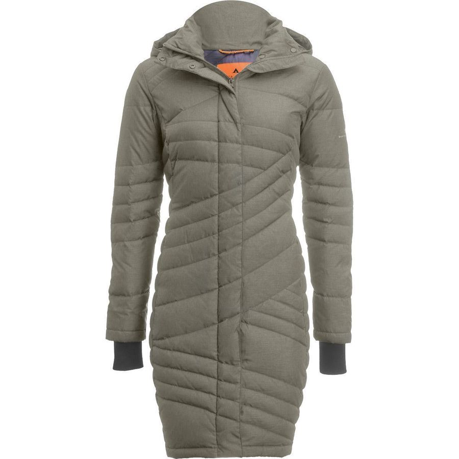 Basin and Range Evergreen Quilted Down Coat - Womens