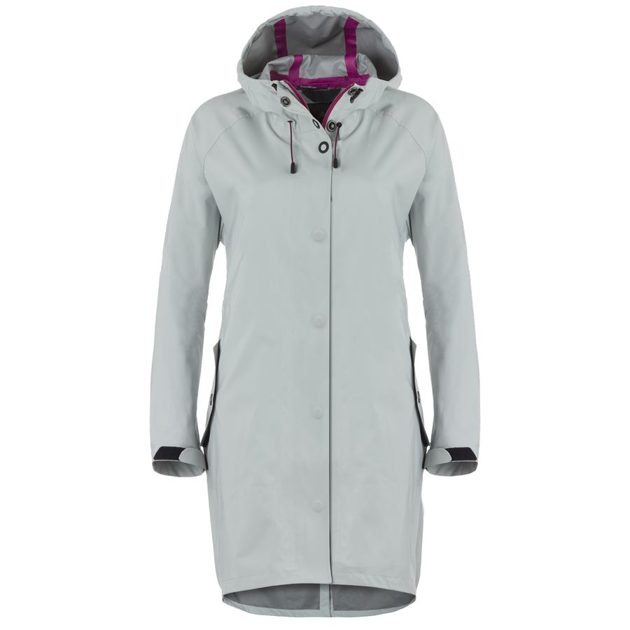 Basin and Range Silver Dollar Rain Trench Coat - Womens