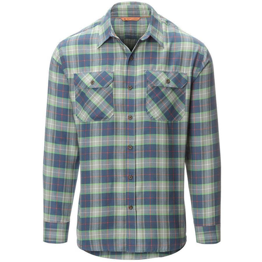 Basin and Range Woodside Plaid Midweight Quick-Dry Flannel Shirt - Mens