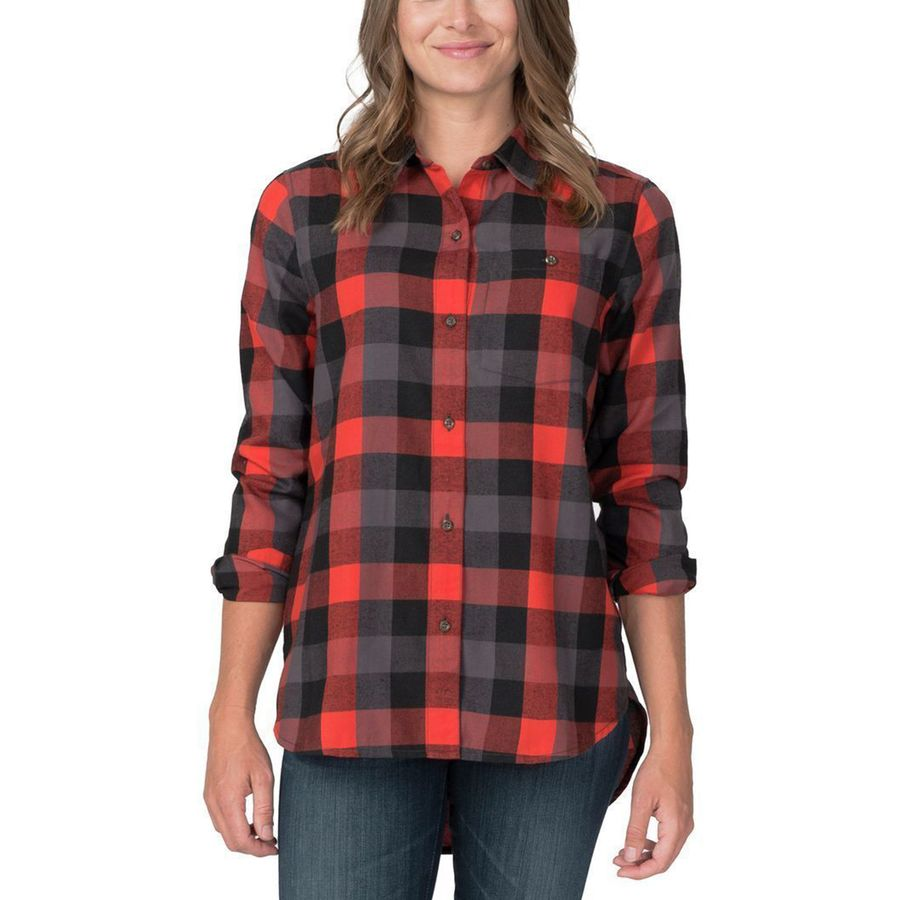 Basin and range snow creek flannel shirt women 39 s up to for Girl in flannel shirt