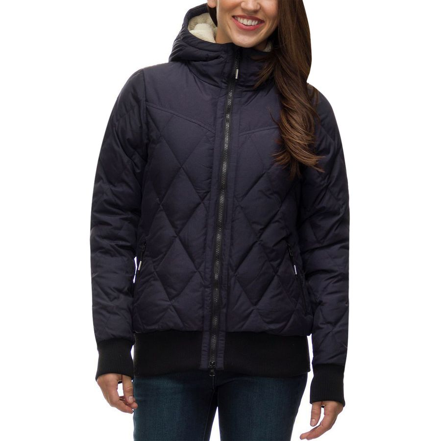 Basin and Range Quincy Hooded Down Bomber Jacket - Womens
