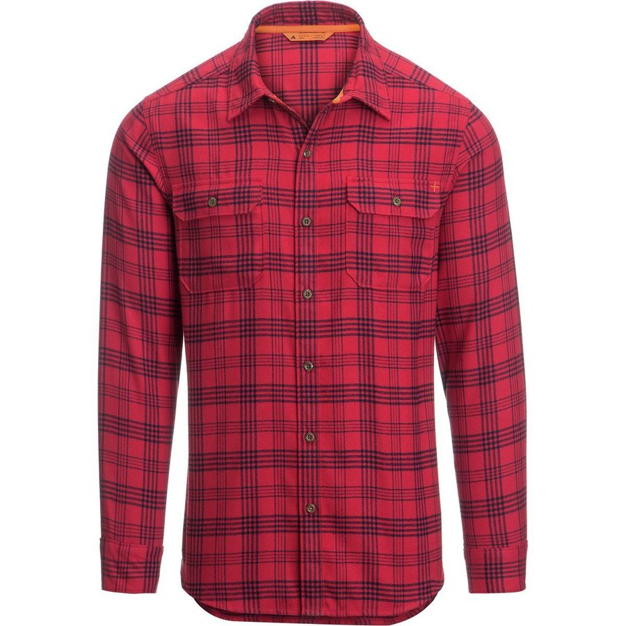 Basin and Range Woodside Fineline Plaid Midweight Quick-Dry Flannel Shirt - Mens