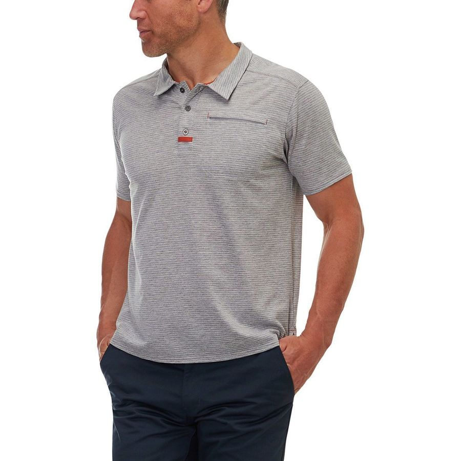 Basin And Range Round Valley Performance Polo Shirt Mens Steep
