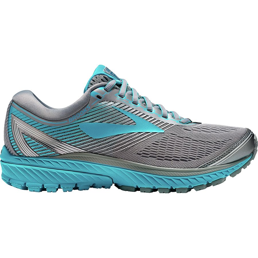 Brooks - Ghost 10 Running Shoe - Women's - Primer Grey/Teal Victory/Silver