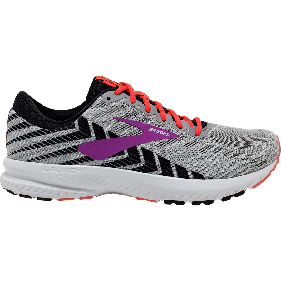 89f7245f483 Brooks - Launch 6 Running Shoe - Women s - Grey Black Purple