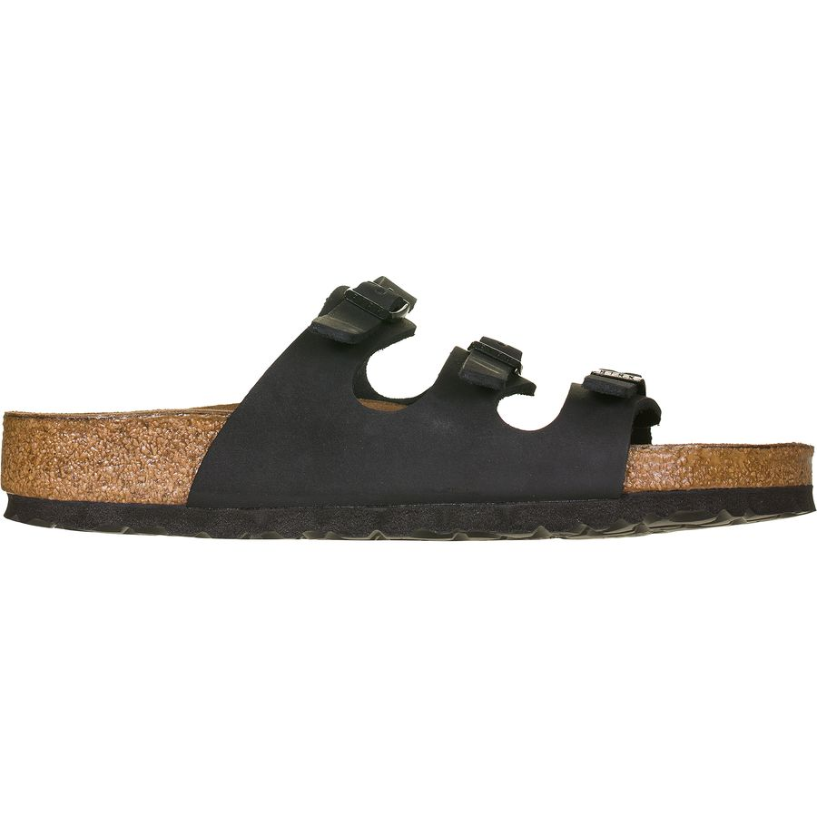 b8f27b447196 Birkenstock - Florida Soft Footbed Sandal - Women s - Black Nubuck