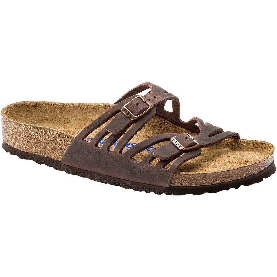 8d716ed2 Birkenstock - Granada Soft Footbed Leather Narrow Sandal - Women's -  Tobacco Oiled Leather