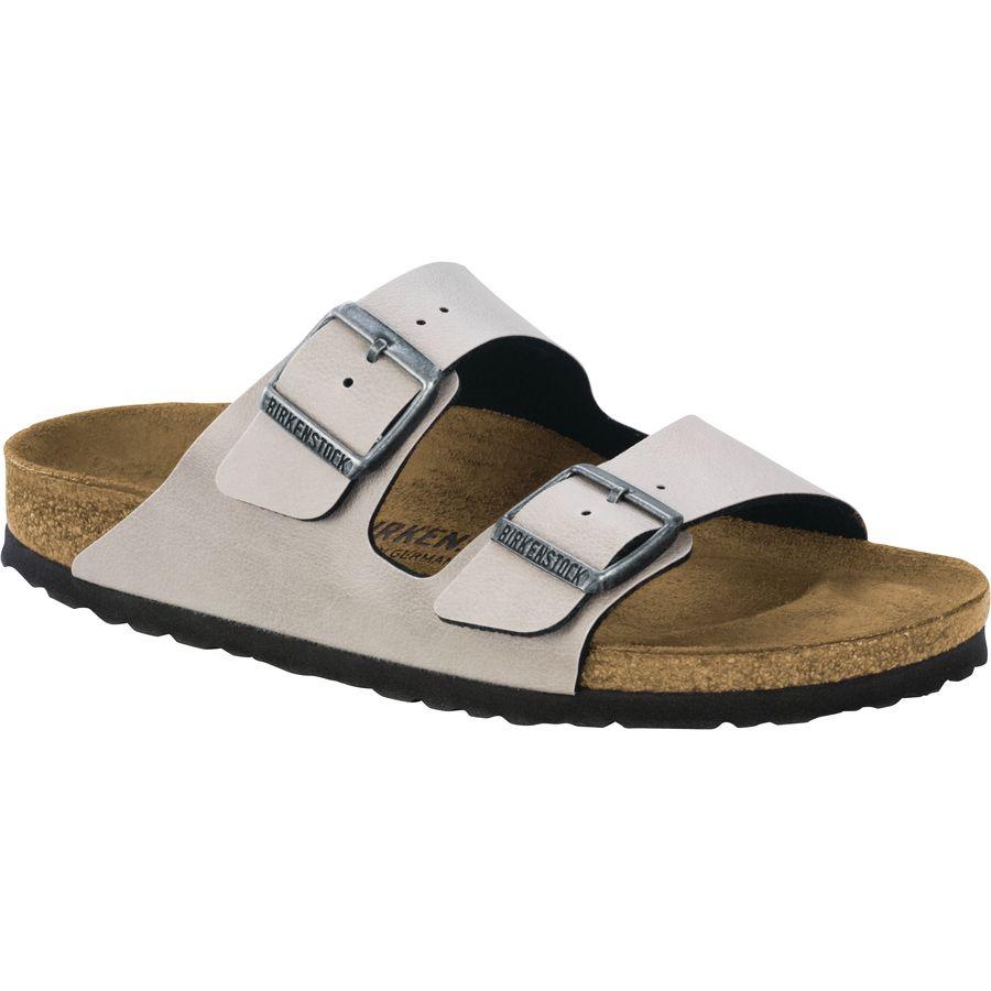 Birkenstock - Arizona Limited Edition Narrow Sandal - Women's - Stone Pull  Up Birko Flor