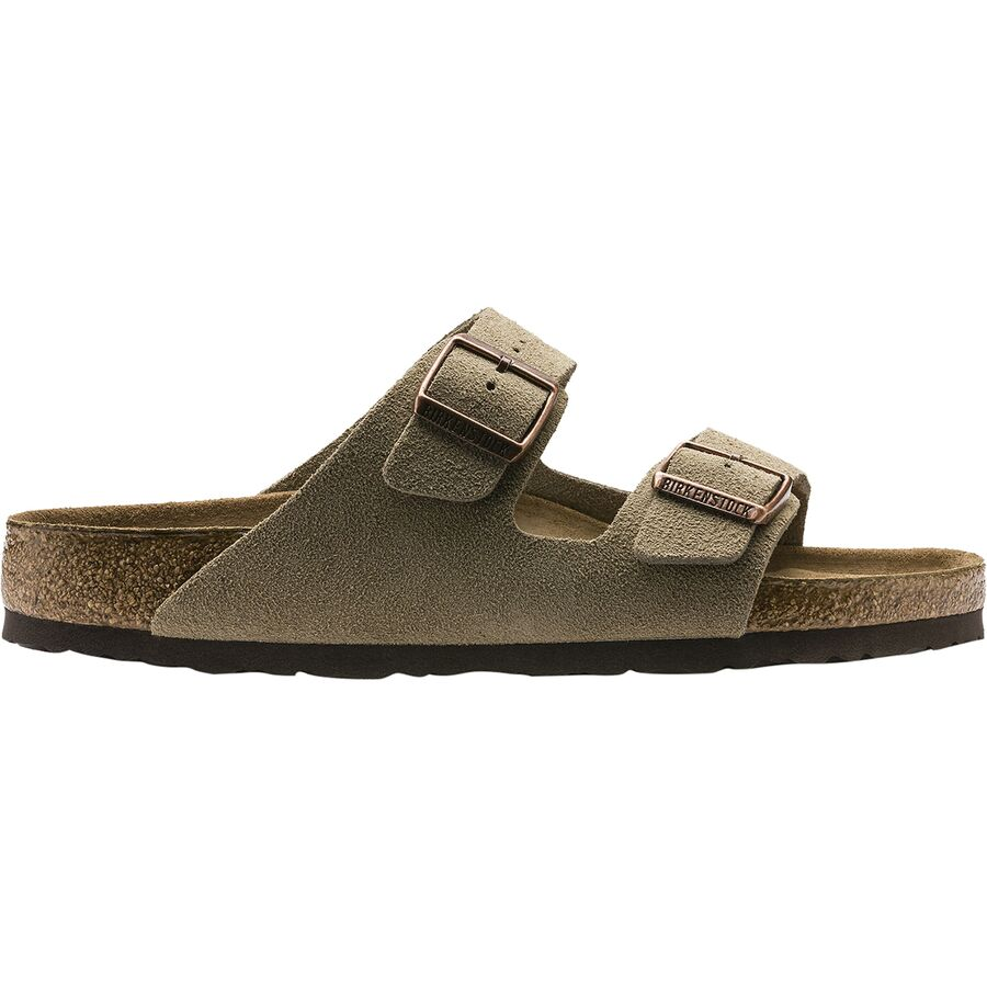 Birkenstock - Arizona Soft Footbed Suede Narrow Sandal - Women s - Taupe  Suede 99b0f9b389e