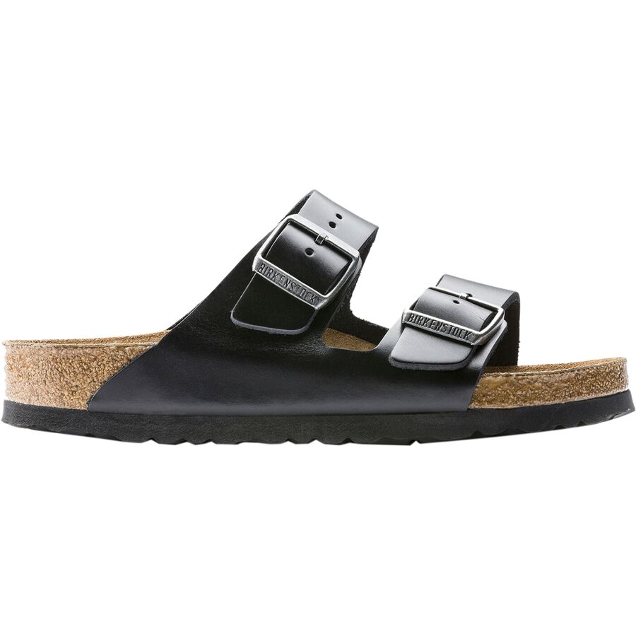 9ba35905b9f Birkenstock - Arizona Soft Footbed Leather Sandal - Men s - Black Amalfi  Leather