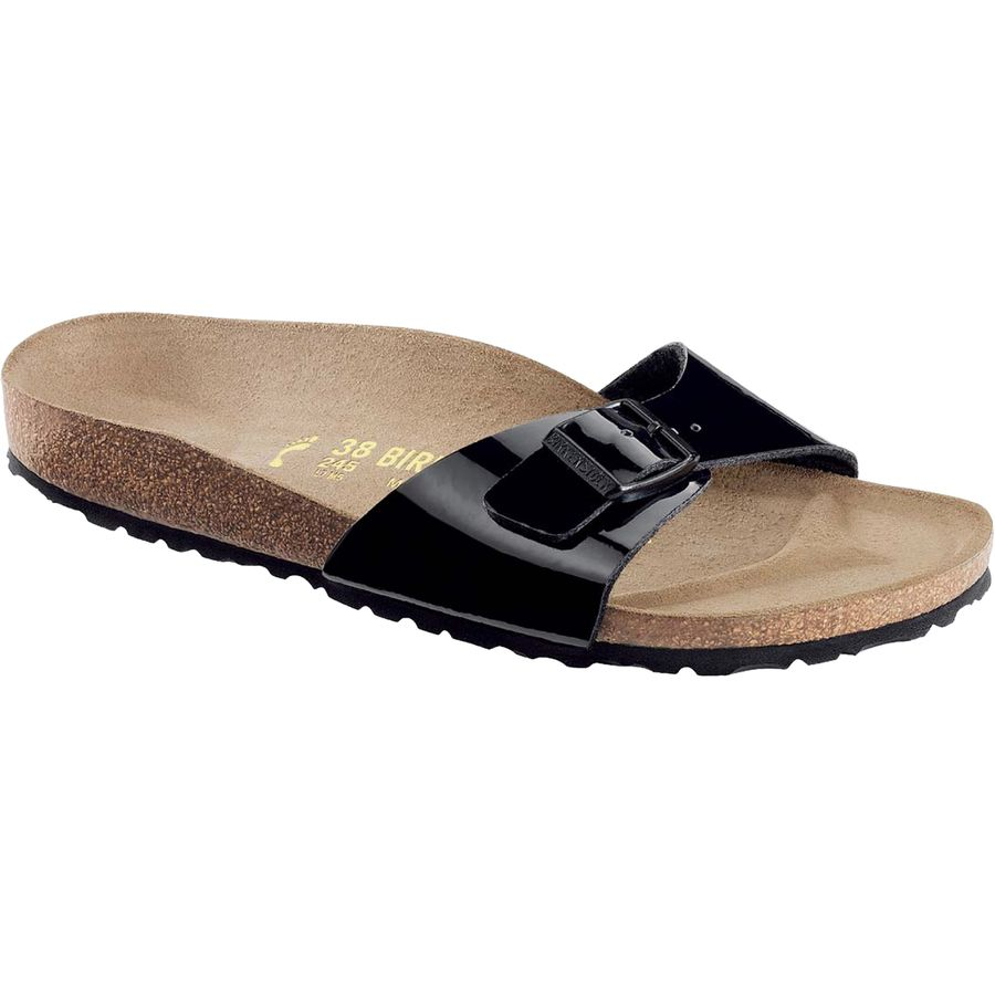 Birkenstock Women's Madrid Single Strap Birko Flor Sandal Black Matte Size 4