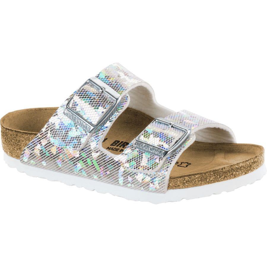 9298cf90e Birkenstock - Arizona Hologram Sandal - Girls  - Hologram Silver Birko Flor