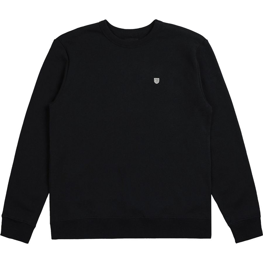 Men/'s Brixton B-Shield Crew Fleece Sweatshirt