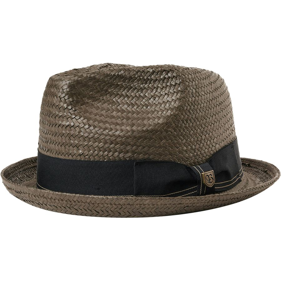 517c035b328 Brixton - Castor Fedora - Men s - Washed Black Gold