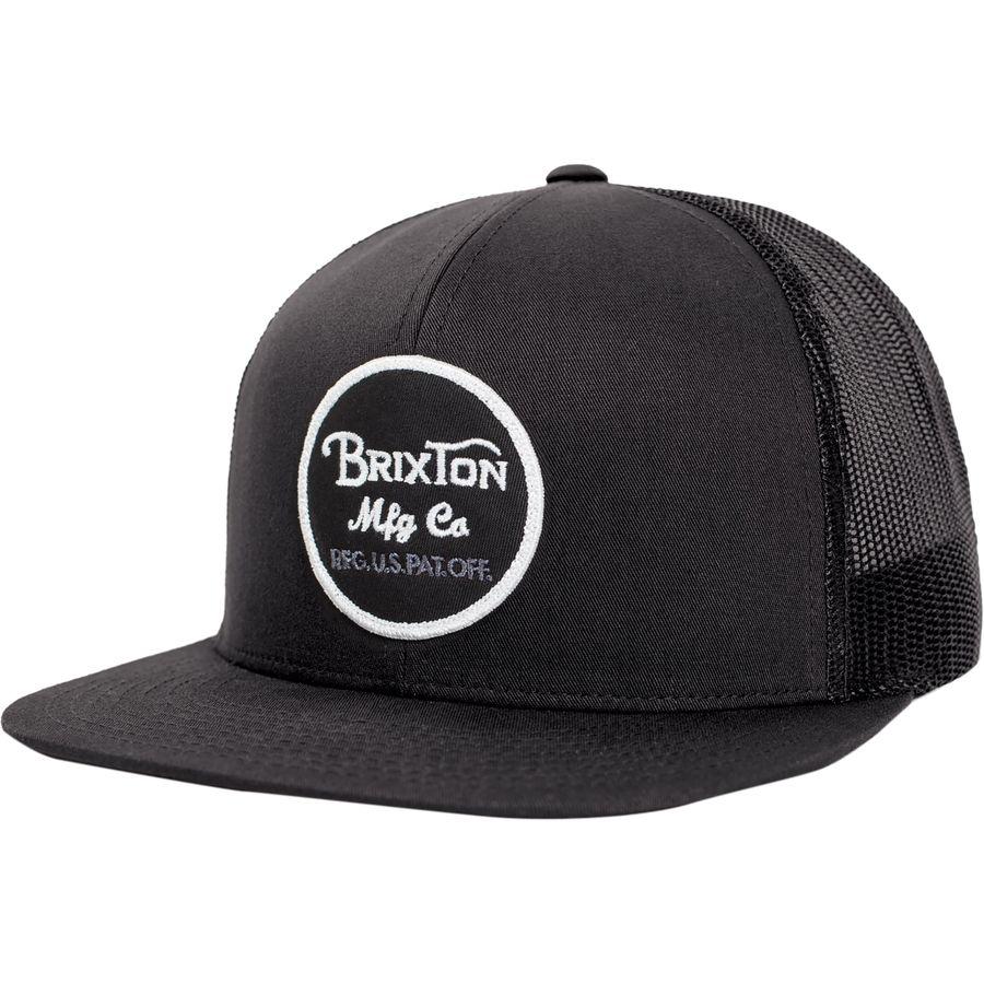 800b92aaec2 Brixton - Wheeler Mesh Cap - Black Black