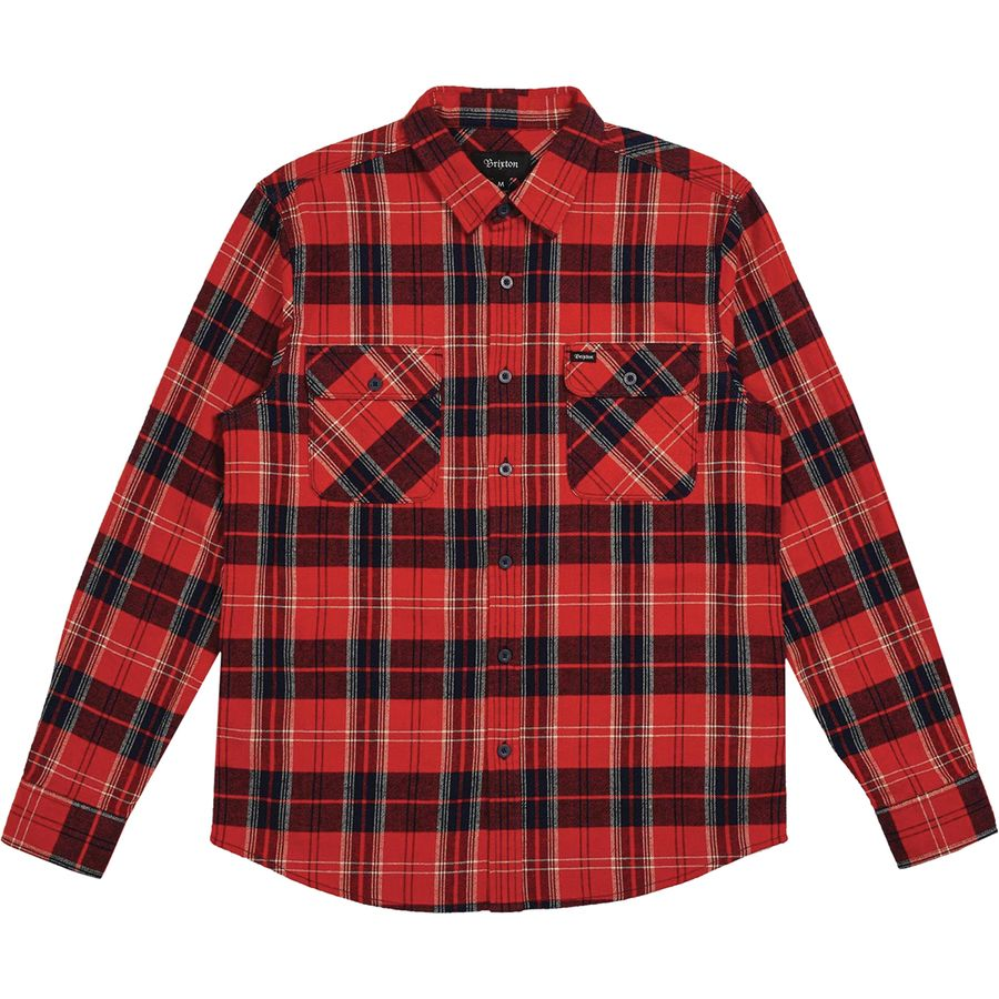 Brixton - Bowery Flannel Shirt - Men s - Red Navy 2bec761eb