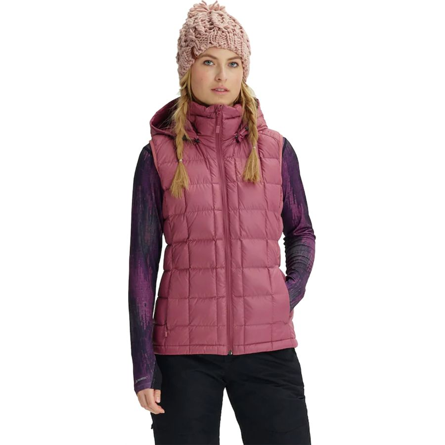 014119f2f50 Burton - AK Squall Down Hooded Vest - Women s - Rose Brown