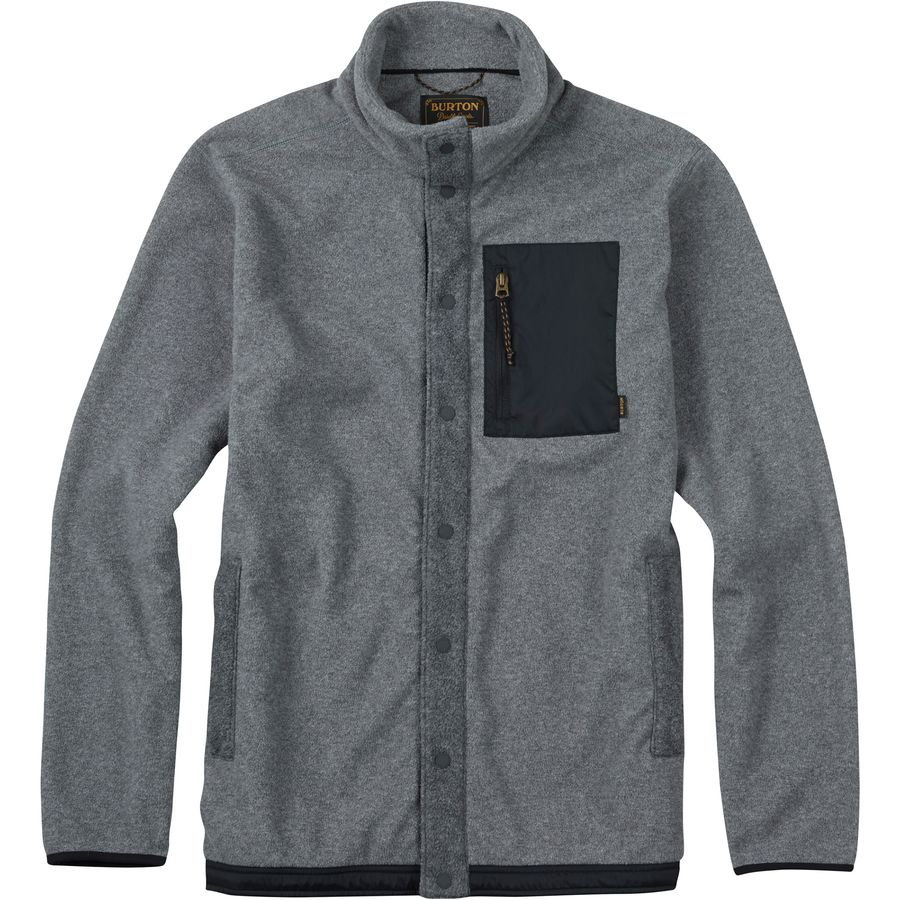 Burton Hearth Snap-Up Fleece Jacket - Mens