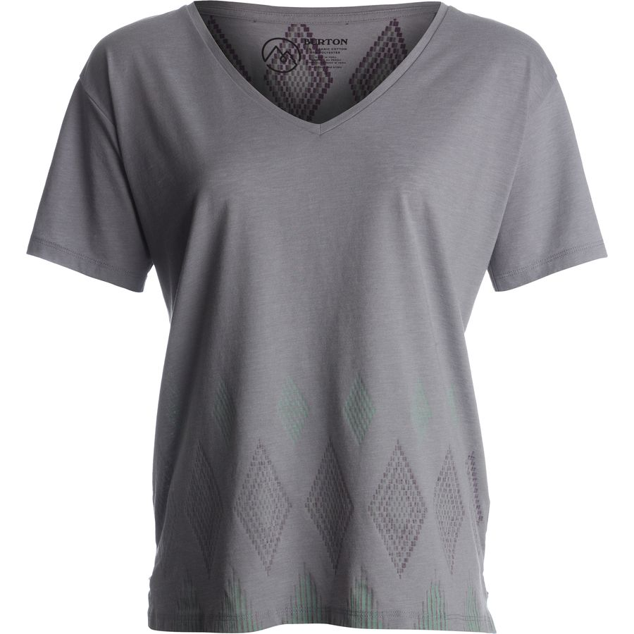 Burton Geo V-Neck T-Shirt - Womens